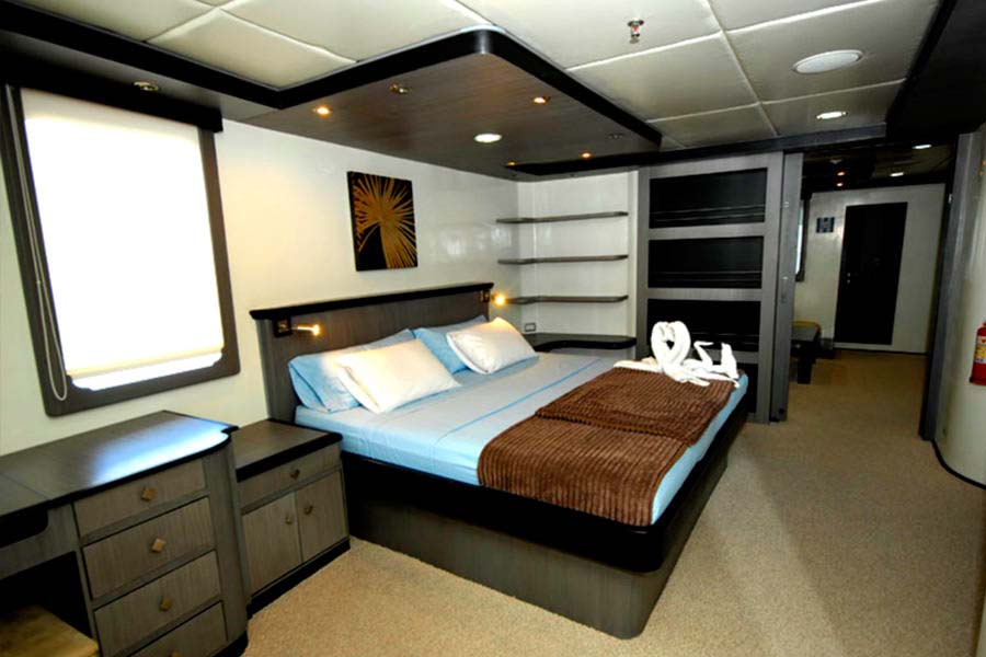 Treasure of galapagos cruise first class galapagos for First class cruise ship cabins